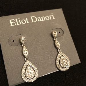 Eliot Danori raindrop crystal earrings